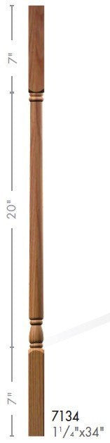 "Colonial 1-1/4"" 7134 Elegant Rise Square Top Baluster - Stair Parts USA - 2"