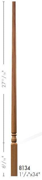 "Colonial 1-1/4"" 8134 Elegant Rise Pin Top Baluster - Stair Parts USA - 2"