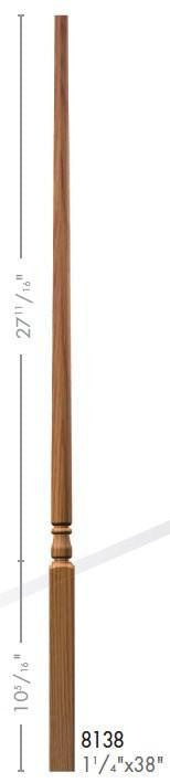 "Colonial 1-1/4"" 8134 Elegant Rise Pin Top Baluster - Stair Parts USA - 3"