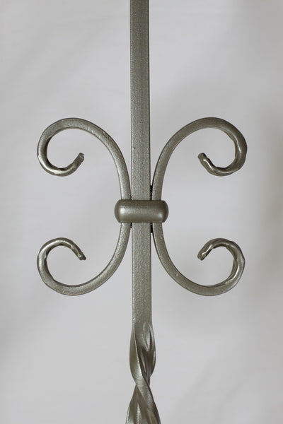 "Ribbon Series 1/2"" Square x 44-3/32""H PC34/1 Double Ribbon Twist and Scroll Solid Iron Baluster - Stair Parts USA - 4"