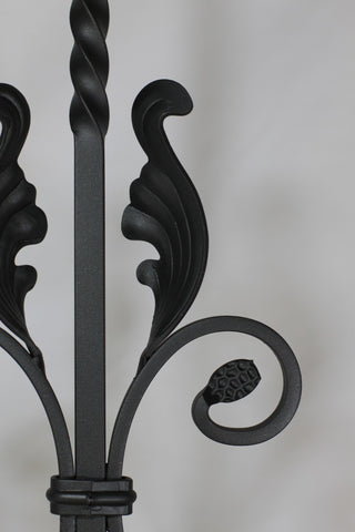 "Scroll Series 1/2"" Square x 6-5/8""W x 44-3/32""H PC24/1 Double Twist and Fancy Scroll Solid Iron Baluster - Stair Parts USA - 4"