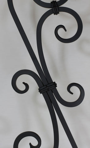 "Scroll Series 1/2"" Square x 7-9/32""W x 44-3/32""H PC20/1 Thin (1/4"") Large Scroll Solid Iron Baluster - Stair Parts USA - 3"