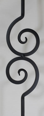 "Shape Series 1/2"" Square x 4-3/4""W x 44-3/32""H PC50/1 Nautilus Scroll Solid Iron Baluster - Stair Parts USA - 3"