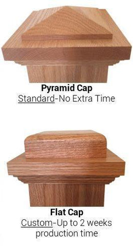 "American 7-1/2"" x 55"" 4092 Fluted Box Newel - Stair Parts USA - 3"