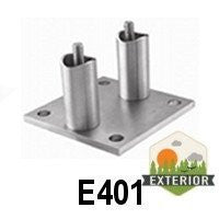 "3 15/16"" x 3 15/16"" x 15/64"" for Tube 1 2/3"" Dia. (E401) - Stair Parts USA - 3"