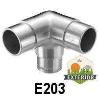 "3-Way Corner Fitting for 1 2/3"" Handrail (E203) - Stair Parts USA - 3"