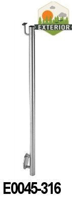 "Stainless Steel 1 2/3"" Newel Post with Wall Mount and Integrated Handrail Bracket (E0045) - Stair Parts USA - 3"