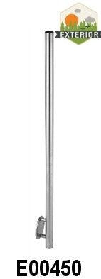 "Stainless Steel 1 2/3"" Newel Post with Wall Mount (E00450) - Stair Parts USA - 3"