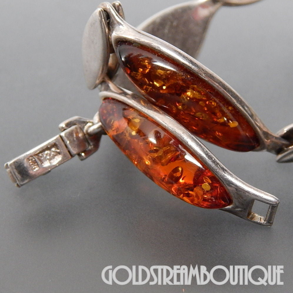 VALERIO 888 NYC 925 SILVER MARQUISE HONEY AMBER WAVE