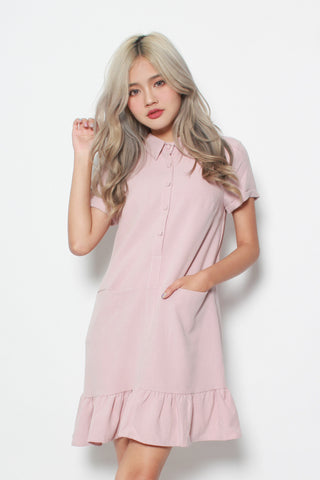 CAELA POCKET DRESS IN PINK