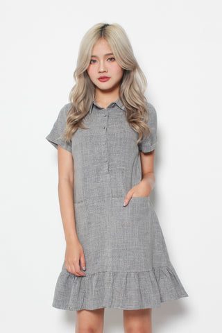 CAELA POCKET DRESS IN GREY