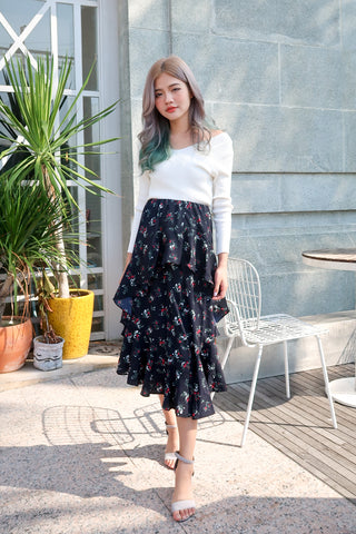 ADELAIDE FLORAL LAYERED SKIRT