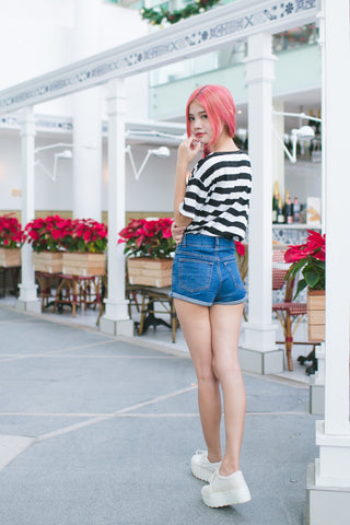 BOLD STRIPE OVERSIZED TEE