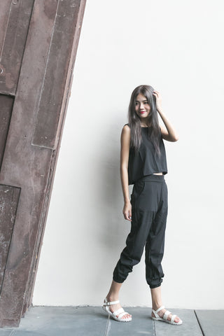 CASUAL 2PCS SET IN BLACK