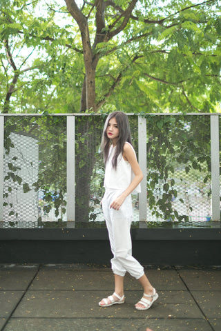 CASUAL 2PCS SET IN WHITE