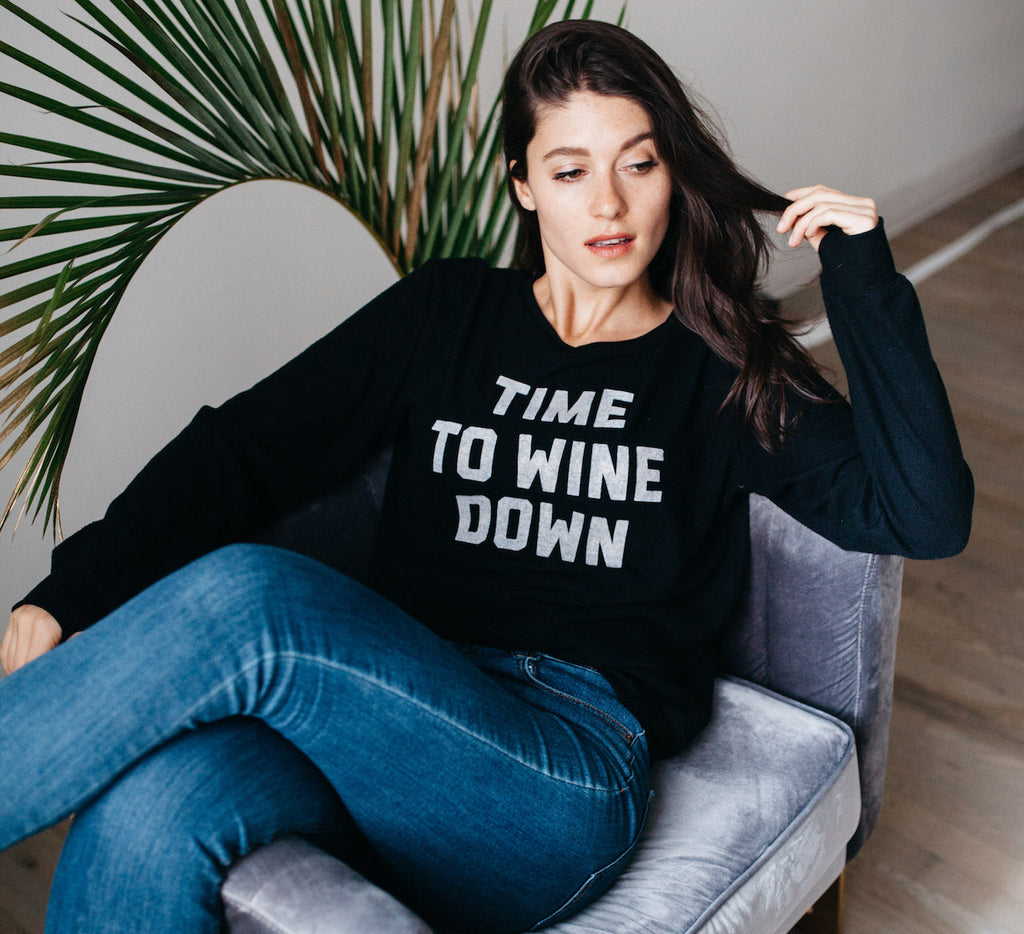 social sunday wine down pullover