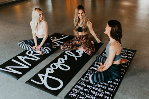 AJ Love Yoga Mantra Mat Social Sunday