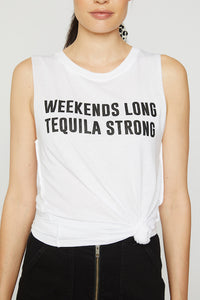 Weekends Long Muscle Tee