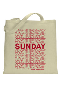 social sunday tote come again