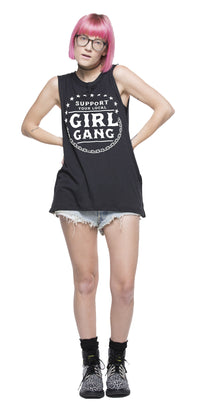 support your local girl gang muscle tee