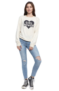 social sunday girl power pullover sweatshirt