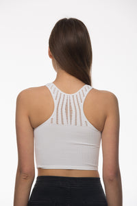 Seams Lovely Sunset Crop Tank