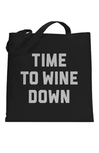 SOCIAL SUNDAY TIME TO WINE DOWN TOTE BAG