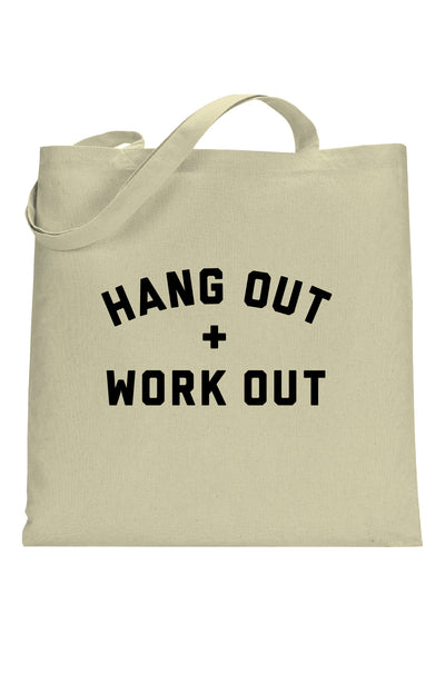 social sunday hang out and work out tote