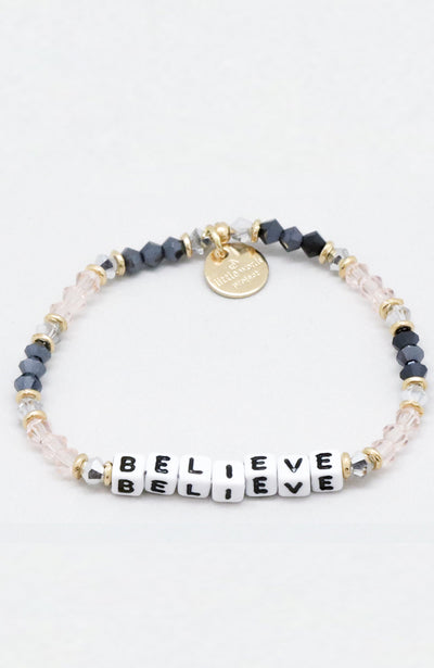Little Words Project Beaded Bracelet - Believe