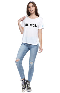 social sunday be nice one love short sleeve tee t shrit