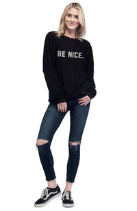 social sunday be nice one love pullover sweatshirt