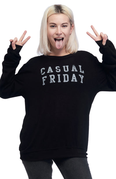 social sunday casual friday pullover sweastshirt