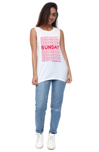 social sunday come again muscle tee
