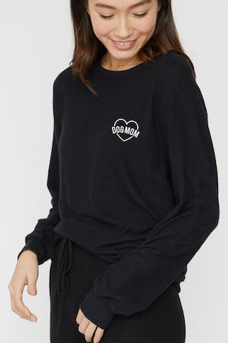 Dog Mom Cropped Pullover