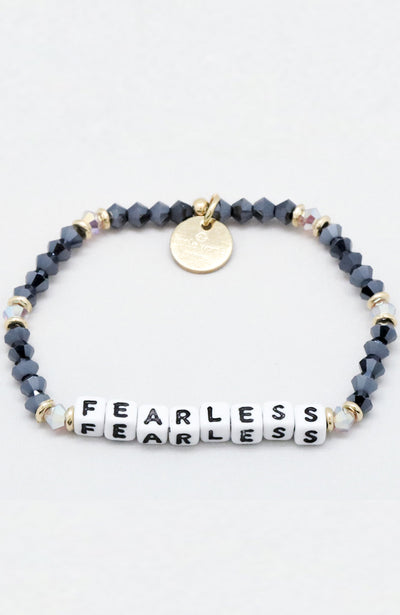 Little Words Project Beaded Bracelet - Fearless
