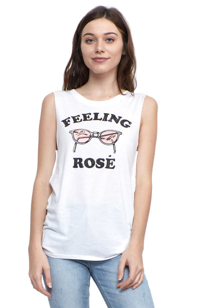 social sunday muscle tee feeling rosé