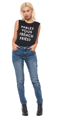social sunday parlez vous french fries muscle tee