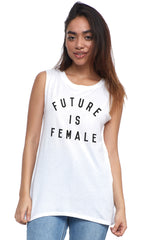 future is female muscle tee