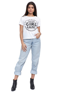 support your local girl gang short sleeve tee shirt
