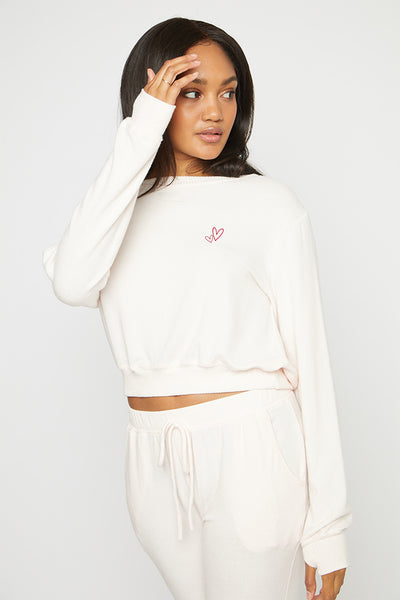 Heartbeat Cropped Pullover
