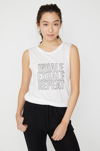 Inhale Exhale Muscle Tee