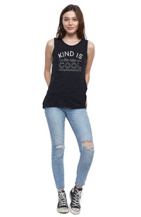 kind is the new cool muscle tee shirt