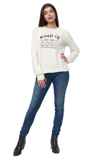 kind is the new cool pullover sweatshirt