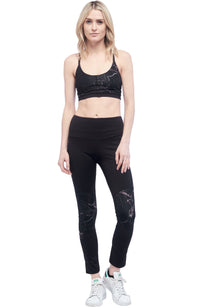 Seams Lovely Lotus Sports Bra – Black