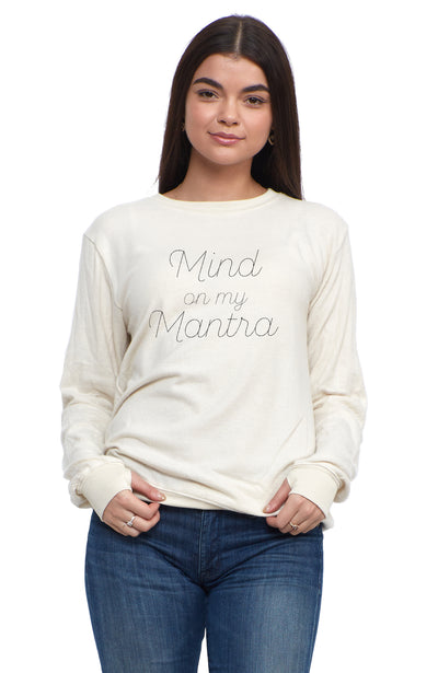 social sunday mind on my mantra pullover sweatshirt