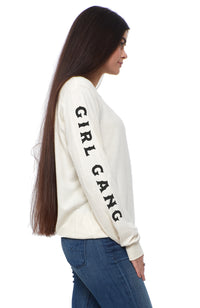 social sunday girl gang members only pullover sweatshirt