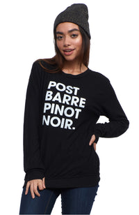 social sunday post barre pinot noir wine pullover sweatshirt