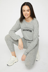 Tailgates Cropped Pullover