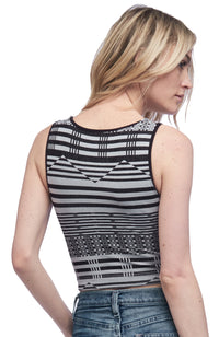 Seams Lovely Striped Crop Tank