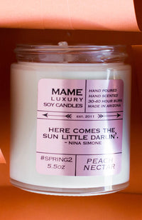 MAME Soy Candle #22 Lemon, Basil, Herb